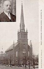 Trinity Evangelical Lutheran Church & Pastor in Lehighton Pa Pre 1908