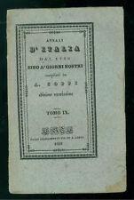 COPPI ANTONIO ANNALI D'ITALIA DAL 1820 AL 1839 TOMO XIII LONGO 1839 RISORGIMENTO