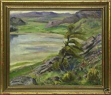 1900-1949 Originalgemälde (1900-1949) aus Leinwand mit Expressionismus auf Landschaft & Stadt