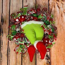 """Plush Toy Doll How The Grinch Stole Christmas Boy Girl figurine 16"""" Wreath Decor"""