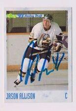 93/94 Classic Draft Hockey Jason Allison London Knights Autographed Card
