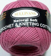 1 X 100 Natural Soft Cotton Sullivans 4 Ply Equivalent Crochet Knitting