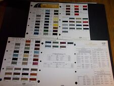 1975 GENERAL MOTORS PAINT CHIPS BUICK CADILLAC CHEVROLET OLDSMOBILE PONTIAC OPEL
