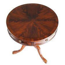 NSI013, Niagara Furniture, Queen Ann Mahogany Drum Table, Round Mahogany Table