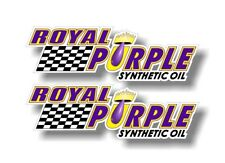 "2 ROYAL PURPLE Synthetic Oil Vinyl Graphics 9"" Decals 5w30 15w40 Stickers JDM"