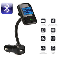 Bluetooth FM Transmitter Hands-free Car-Kit Radio Receiver MP3 Audio Adapter