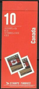 Canada Booklet BK153b & 158a Flag MNH Open