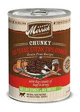 Merrick 12 Count Chunky Big Texas Steak Tips Dinner, New, Free Shipping