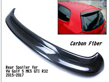 Black Carbon Fiber Rear Spoiler Wing Fit for Volkswagen Golf5 MK5 GTI R32 05-07