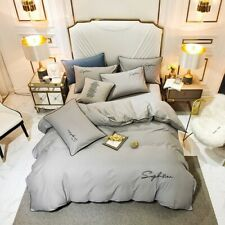 Luxury Egyptian Cotton Bedding Set Embroidery Bed Set Cover Sheet Flat Bed Sheet