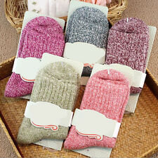 FX- 5 Pairs Women Wool Cashmere Thick Warm Casual Sports Socks Winter New Novelt