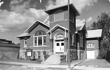 Salisbury MO~1st Christian Church~Beaux Arts~Bas Relief Brick Columns RPPC 1961