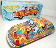 Space tin toy CAR RARE Camouflage Psychedelie PEACE LOVE Inertia Colorful