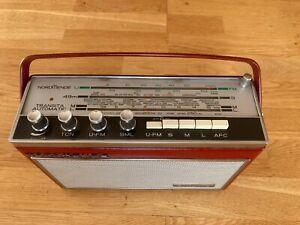 Transistorradio Nordmende Transita Automatic Rot /Vintage / getestet / Komplett