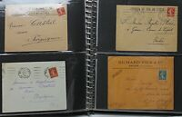 France postal history collection from 1887 onwards in SG album 73 covers