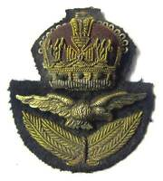 RAF Officer Cap Badge WW2 WWII Hat & Eagle Kings Crown Royal Air Force KC Aged