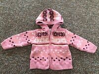 Sonoma Knit Hooded Girls Cardigan 12M