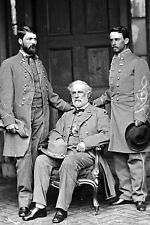 New 5x7 Civil War Photo: Confederate General Robert E. Lee with his son & aide