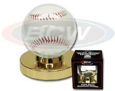 BCW Single Baseball Holder w/Gold Base - Qty. 1