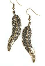 Paparazzi Earrings ~ FOWL Play ~ Golden Rhinestones set in Brass Feathers
