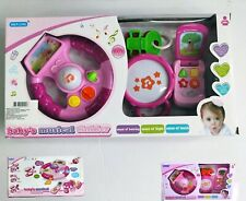New Baby Toy Musical Instrument Set, Plastic Pink Steering Wheel Music Toy