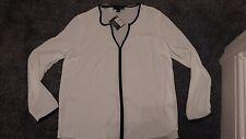 Ladies Atmosphere Ivory Chiffon Blouse Long Sleeve Size 14 New