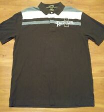 Tommy Hilfiger Mens Polo Shirt Spell Out Logo Golf Short Sleeve brown size XL