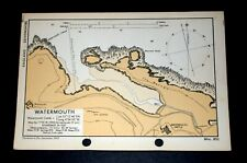 Watermouth, Devon - Vintage Ww2 Naval Military Map 1943