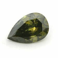 Green Chameleon Diamond Natural 1.21 Ct Certified Fancy Yellow GIA Pear Cut