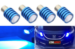 x4 1157 1016 7.5W LED Blue Fit Front Turn Signal Halogen Light Bulbs Y80