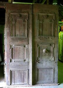 riesige Renaissance- Hauseingangstür, 16. Jh., Flügeltür, 196x296 cm, T-DH-DF100