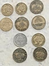 10Pcs. 1925 - 1961 old rare Lebanese coins, of the World Asia history of Lebanon