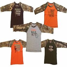 Toddlers 100% Cotton T-Shirt REALTREE & MOSSY OAK Hunting Camping Fishing - Boys