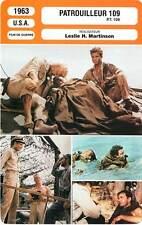 FICHE CINEMA : PATROUILLEUR 109 - Robertson,Culp,Martinson 1963 P.T.109