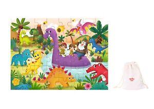 Wooden Interlocking jigsaw puzzle 48 pcs ~ Dinosaur Theme by Tooky Toys