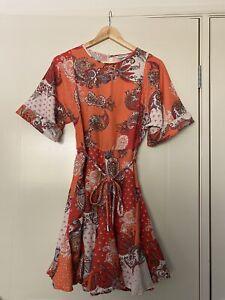 Country Road Orange Paisley Dress 6