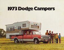 1973 Dodge Campers Pickups Motor Homes Vans Wagons Dealer Sales Brochure
