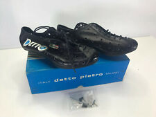 Vintage Detto Pietro Milano Special 74N Bicycle Shoes Black Sz 40 New Old Stock