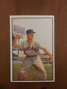 1953 Bowman Color #18 NELLIE FOX. Chicago White Sox HOF