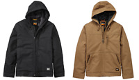 MEN'S TIMBERLAND PRO® BALUSTER Hooded Insulated Canvas Work Jacket Black / Wheat