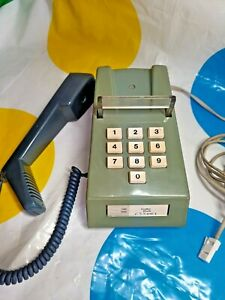 VINTAGE 70s 80s GPO 766 PUSH BUTTON TRIMPHONE TELEPHONE AVOCADO GREEN TESTED BT