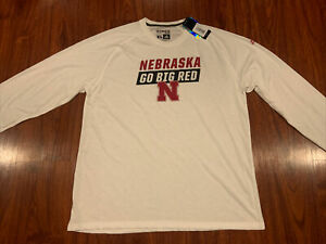 Adidas Men's Nebraska Football Statement Long Sleeve Jersey Shirt Extra Large XL