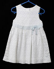 White Cotton Blend Lace Girls Party Dress Sz 2 Janie & Jack Toddlers Clothing