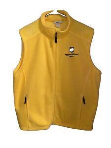Amazon Fulfillment Fleece Yellow XL Vest Employee Uniform
