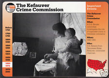THE KEFAUVER CRIME COMMISSION Gangster Law GROLIER STORY OF AMERICA CARD