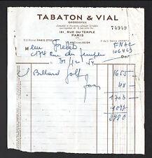 "PARIS (III°) MATERIEL de SPORT LOISIRS  / BILLARD-GOLF ""TABATON & VIAL"" en 1954"
