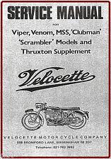 Velocette Workshop Manual 1946-69 Viper Venom MSS Clubman Scrambler Thruxton NEW