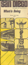 San Diego The Best of California booklet For Tourists March 1977 What's Doing