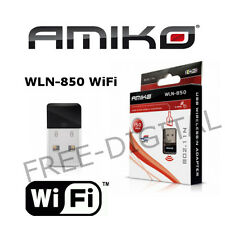 Amiko WLN-850 USB WiFi Dongle - Alien 8900, Alien 2, 8140, 8240, 8360 Mini Wi-Fi