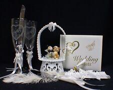 THUMPER DISNEY Wedding Cake Topper LOT Glasses server set Guest book  Rabbit top